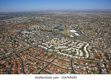 Colorful rooftops of north Scottsdale, Arizona