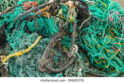 Colorful ropes and nets washed up on Oregon beaches