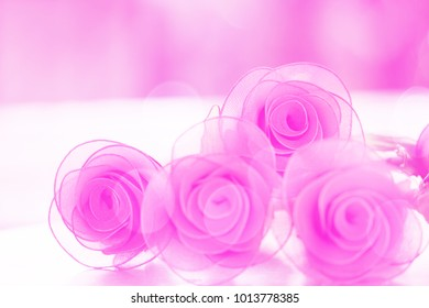 Colorful  rose flowers fabric made with gradient for background and postcard
