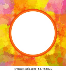 Colorful round photo or picture frame