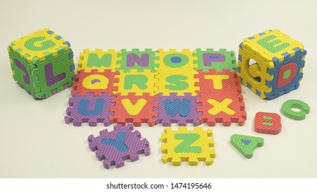 colorful rubber alphabet puzzle toy for children. Rubber alphabet toy for kids Learning.