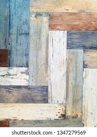colorful rustic wooden plank floor pattern