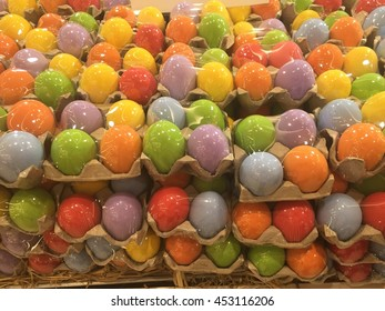 Colorful Salted Duck Egg in plastic package,Thai food products.
