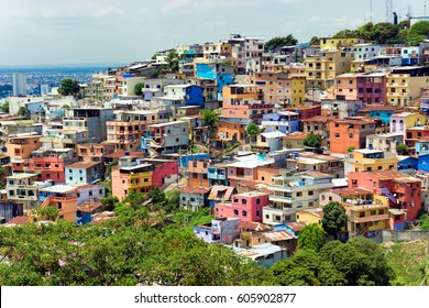 Colorful Santa Ana hill in Guayaquil, Ecuador