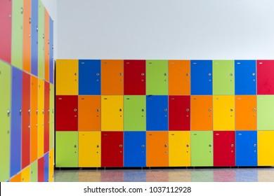 colorful school locker