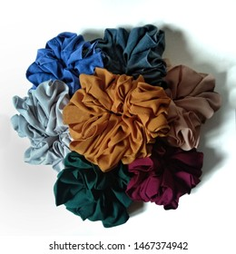 Colorful Scrunchie. Elastic hair bands.