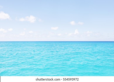 Colorful sea area with blue sky, sunshine around the area, weather is good, white clouds are beautiful, luxury ships design, clear water view