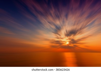 Colorful sea and sky abstract background