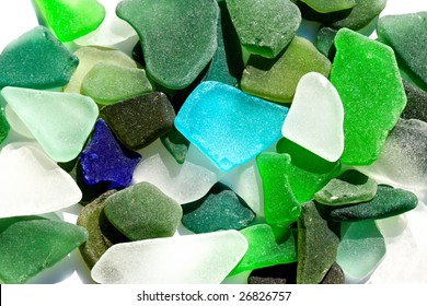 Colorful Sea-Glass Background