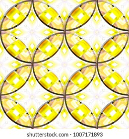 Colorful seamless circles pattern for design and background