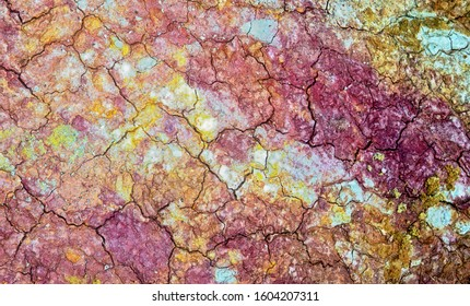 "colorful Sedimentary rocks , exposed in the "" paint mines ""  near Pueblo Colorado"