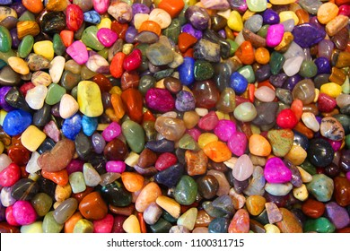 Colorful semi-precious rocks for background