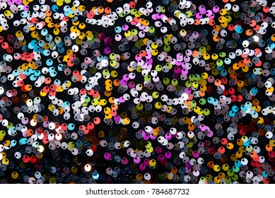 Colorful Sequins Background