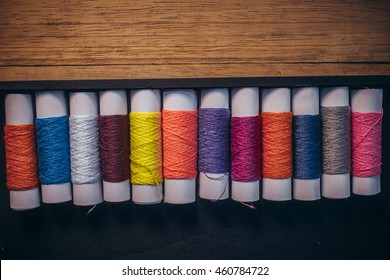 Colorful sewing thread,Sewing thread which is arranged