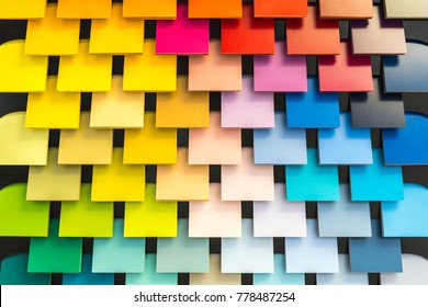 Colorful shingle pantone