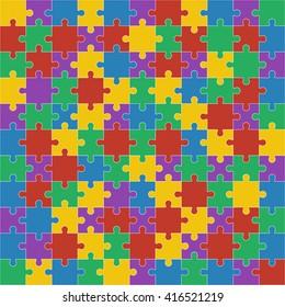 Colorful shiny puzzle illustration.