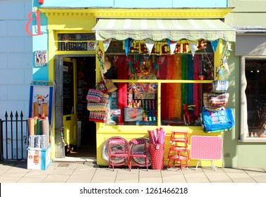 Colorful shop in the north lanes Brighton, East Sussex, UK. September 24th 2018