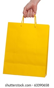 Colorful shopping bag on a white background