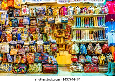 Colorful shops at Grand Bazaar Istanbul .The Spice Bazaar is one of the oldest bazaar in world.