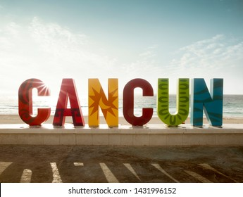 Colorful sign in Cancun, Quintana Roo, Mexico