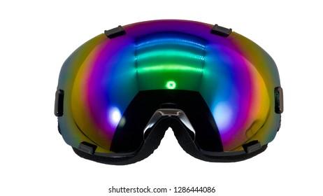 colorful ski goggles