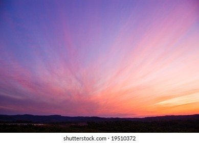 colorful sky after the sunset