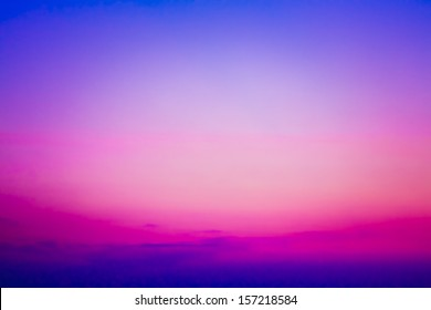 Colorful sky after the sunset. Natural Sky Background.
