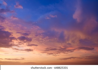 colorful of sky with clouds in the evening,Background