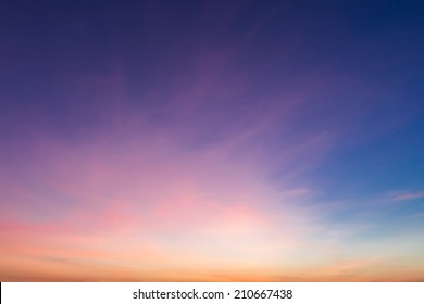 Colorful sky during sunset.