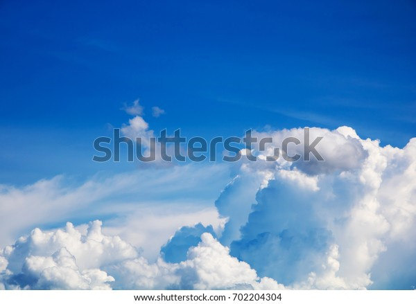 Colorful sky and soft clouds for background and postcard.Abstract and pastel color.