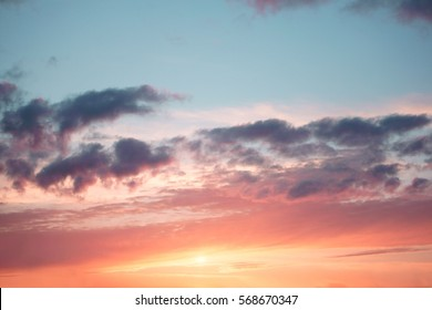Colorful sky in the sunset. Amazing sunset.