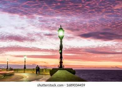 colorful sky at sunset in cadiz