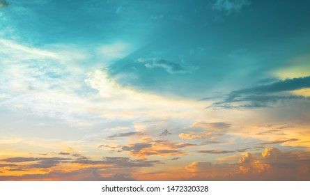 Colorful sky at sunset. Nature background.
