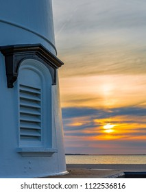 Colorful sky of window at Edgartown lighthouse