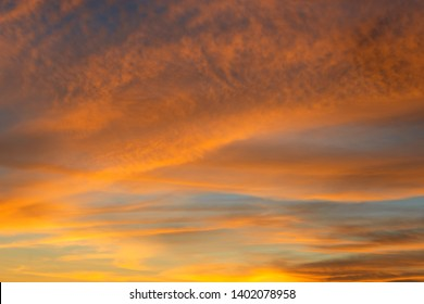 Colorful skyscape in tropical island when the sun disappear.