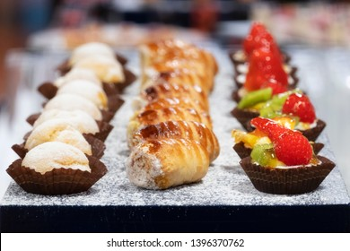 colorful small italian pastries assorted