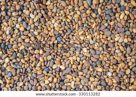 Colorful Small Pebbles Or Stone In Garden.