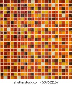 colorful small square of ceramic tile on the wall