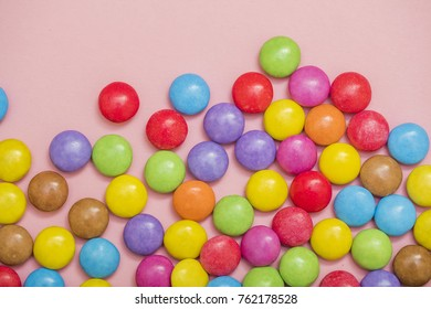 Colorful smarties background