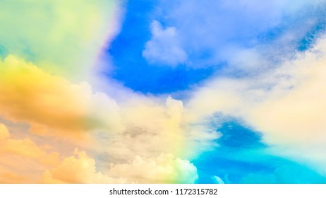 Colorful smoke Cloud for background, Ink swirling in ,Colorful ink abstraction.Fancy Dream Cloud of ink under water.
