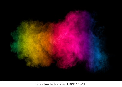 Colorful smoke on black background