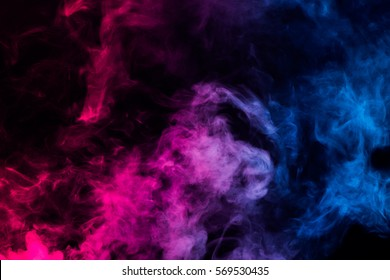 colorful smoke on dark background