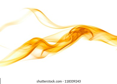 Colorful smoke on the white background.