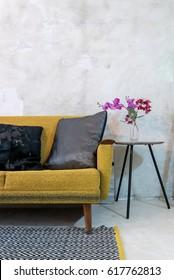 Colorful sofa in modern rustic Living room / Interior decoration & renovation conceptual