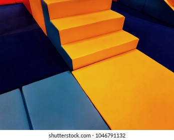 Colorful Soft Mats and Blocks in Kid Playground