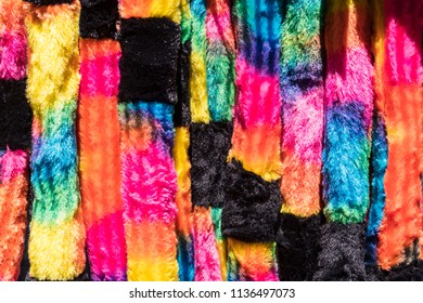 Colorful Soft, Plush Fabric Material