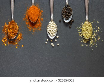 The colorful of spice and herb, the main ingredient for many food. You can apply for background,backdrop,wallpaper including website decor and artwork design.