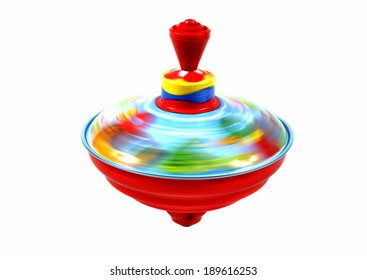 colorful spinning top