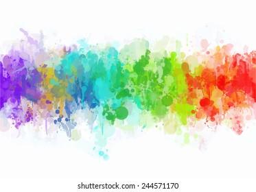 Colorful splash horizontal