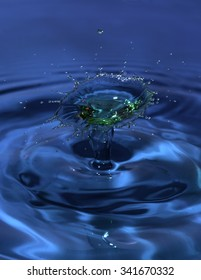 Colorful splash of water